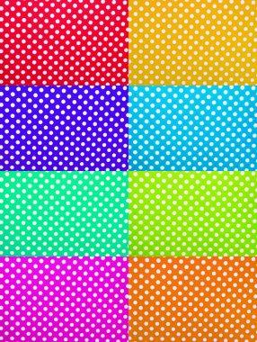 Foamiran polka dot textures
