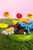 színes húsvéti háttér