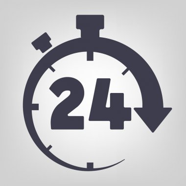 Timer icon black vector time clock simple stock vector