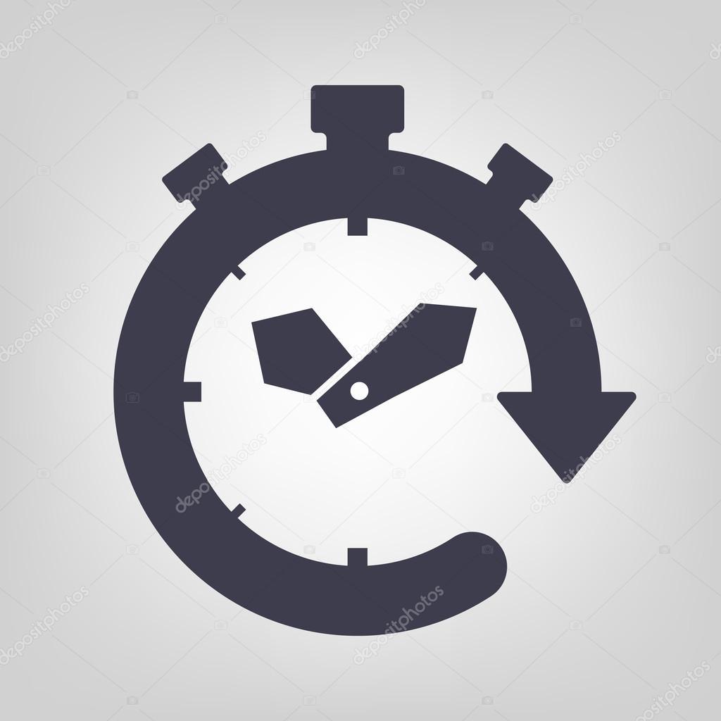 Timer-Symbol — Stockvektor © strejman #60593341