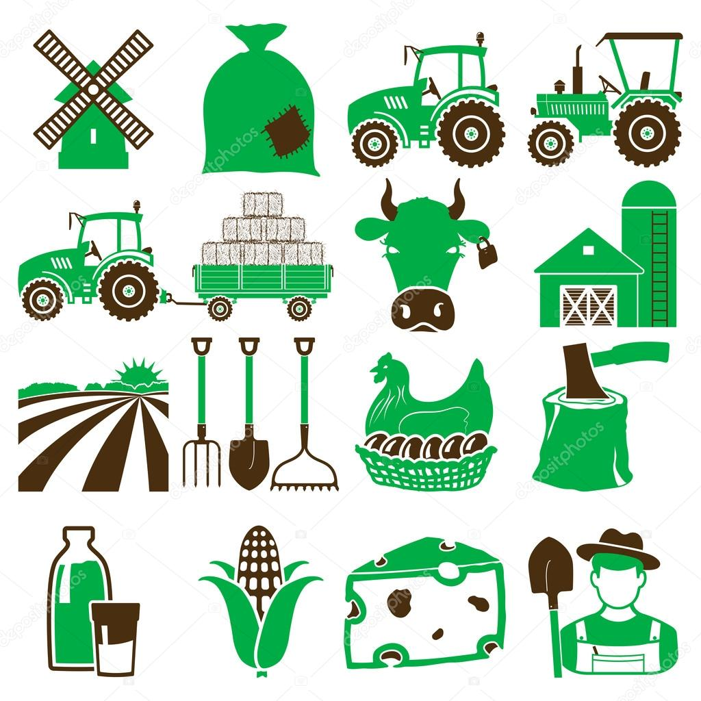Agriculture icons green