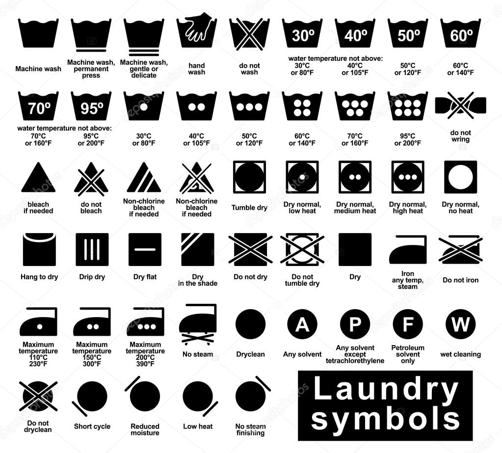 Laundry symbols set stock vector strejman 98220078 laundry symbols set stock vector biocorpaavc Gallery