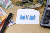 Fotografie Bai al inah (Sell and buy) word - Islamic Finance