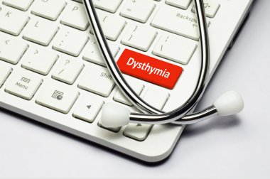 Keyboard, Dysthymia text and Stethoscope