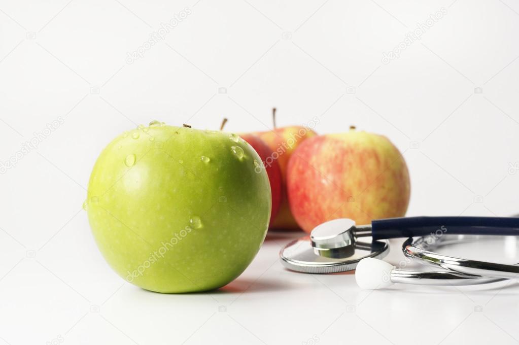 Слово «диета» из зеленых яблок — стоковое фото © mirmoor #89823402.
