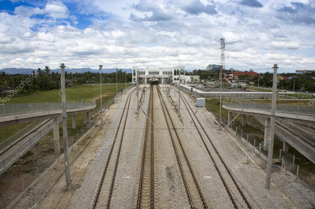 鉄道複線 — ストック写真 © masu...