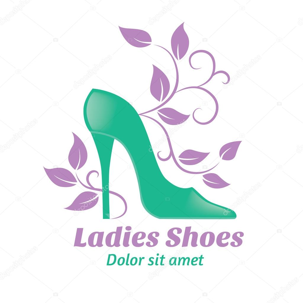 shoes logo stock vector