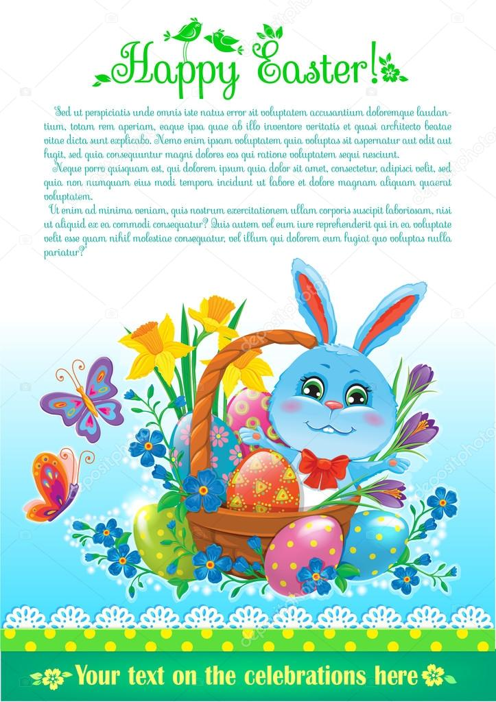 Easter design with text