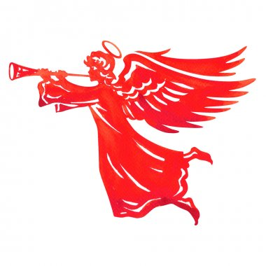 Beautiful angel with wings and trumpet