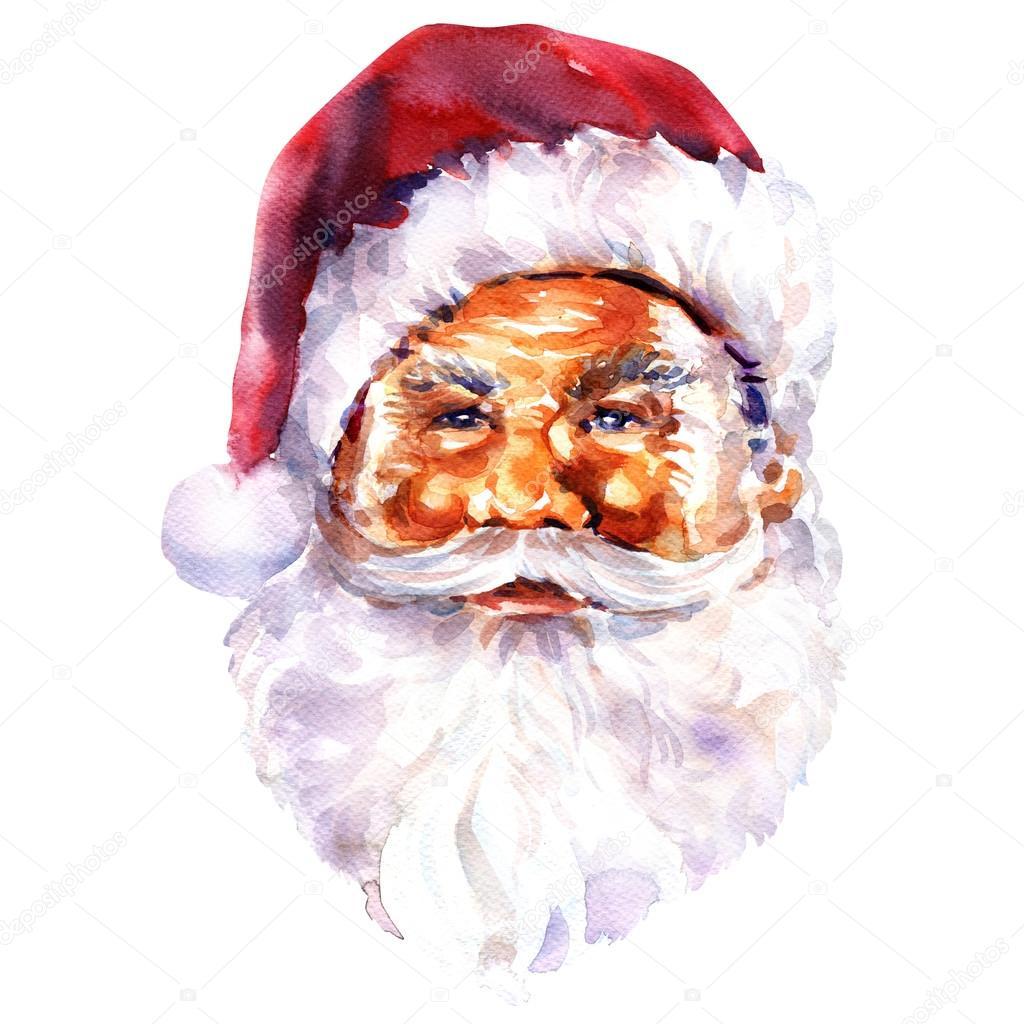 Immagini Viso Babbo Natale.Viso Di Babbo Natale Cartolina Di Natale Foto Stock