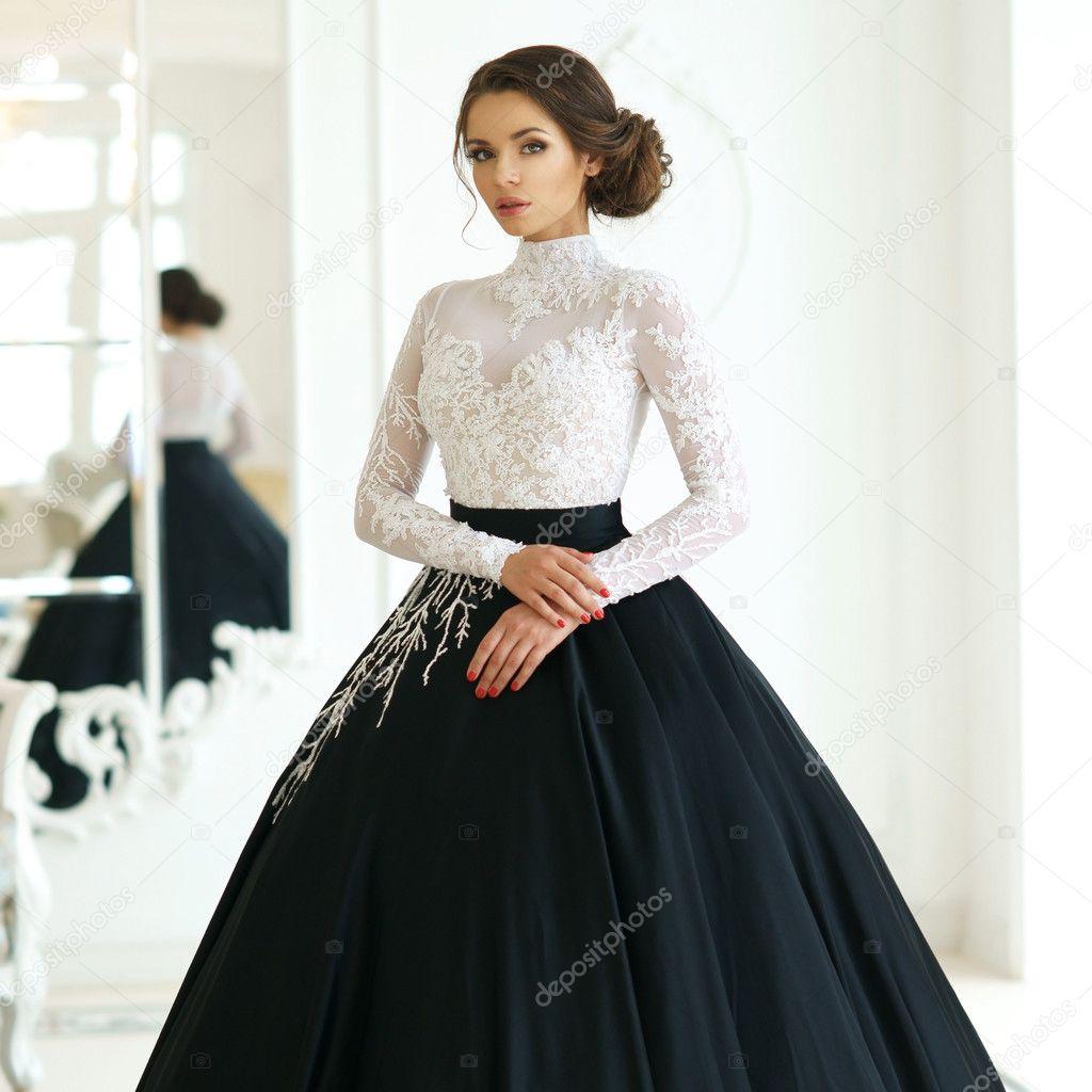 Vestidos con blanco y negro