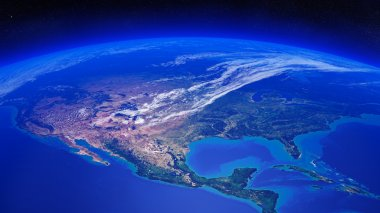 North America seen from space