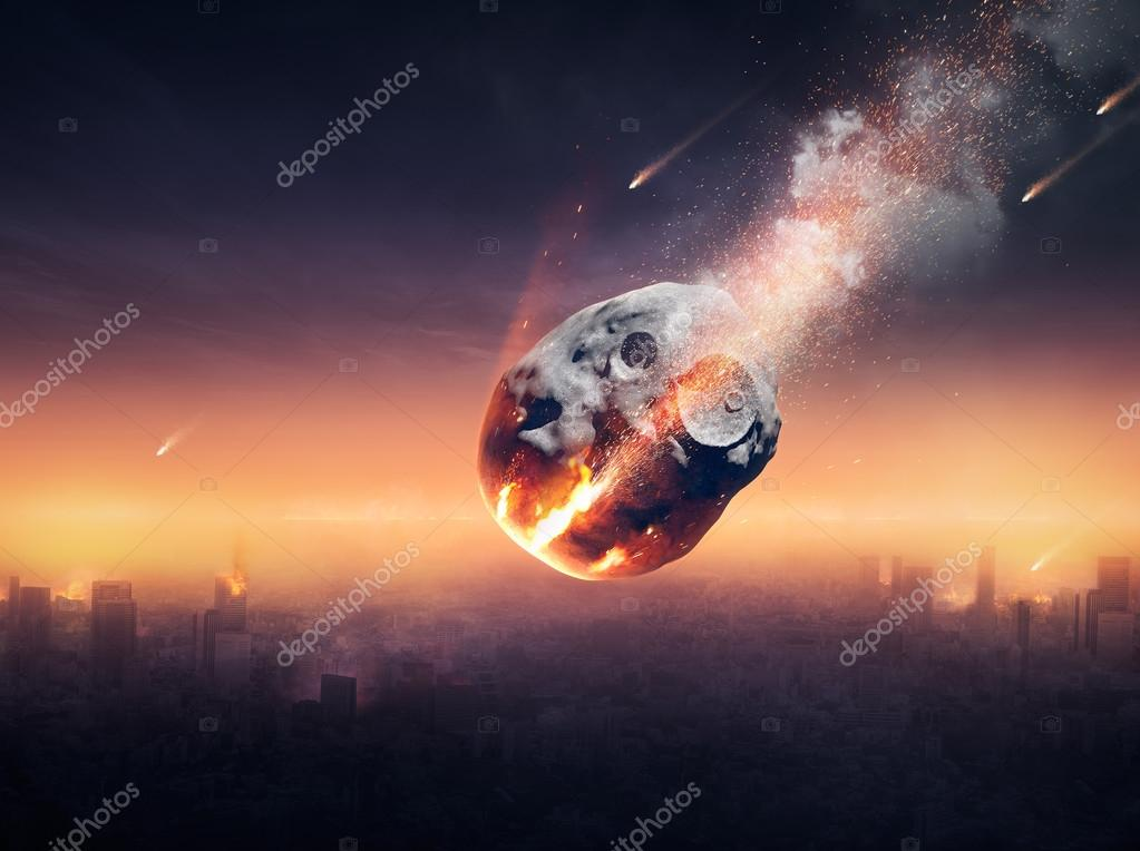 City destroyed by meteor shower