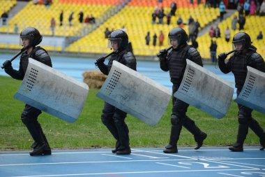 Police at the stadium.