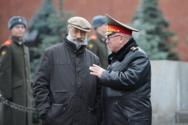 Hero of the Soviet Union and Hero of the Russian Federation Artur Chilingarov and The Minister of internal Affairs of Russia (1995-1998) Anatoly Sergeevich Kulikov