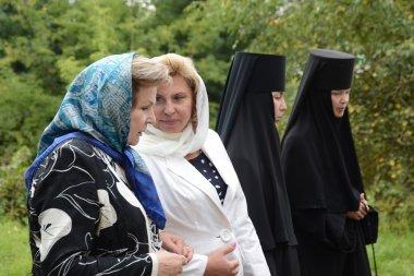 Valentina Tereshkova and Tatiana Moskalkova in piously-Vvedensky Tolga convent