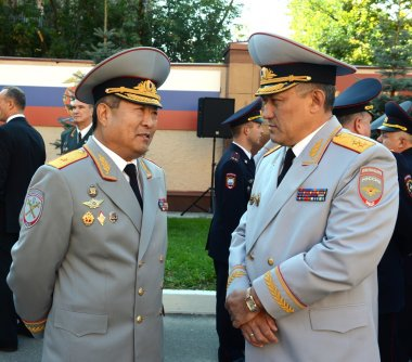 The General-the Lieutenant of police Yury Valyayev and the General-the major of police Timothy pan