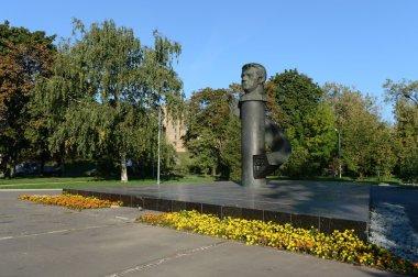 The monument to the pilot-cosmonaut Vladislav Volkov