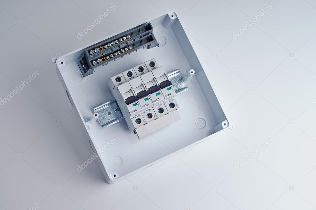 depositphotos_78063122 stock photo fusebox small open electrical cabinet fusebox small open electrical cabinet with four automatic fuses small fuse box at panicattacktreatment.co