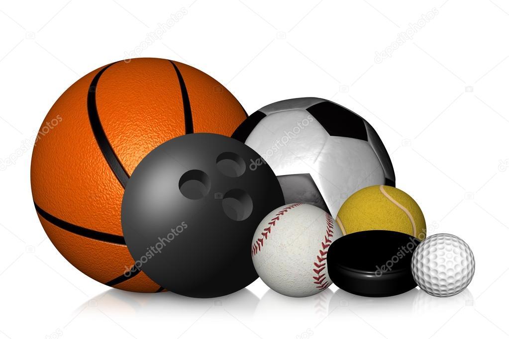 699499bb111d3 Colección de bolas de golf fútbol fútbol — Foto de stock ...