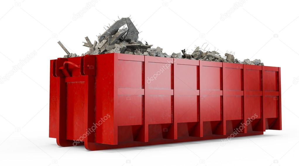 Rubble red container