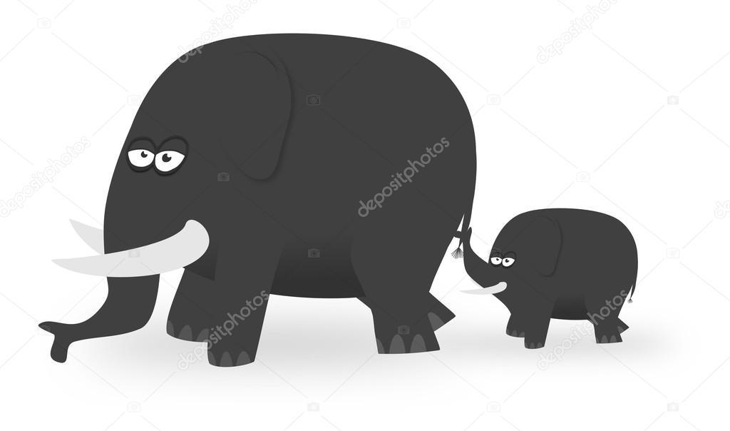 Cartone animato elefanti u foto stock darrenw