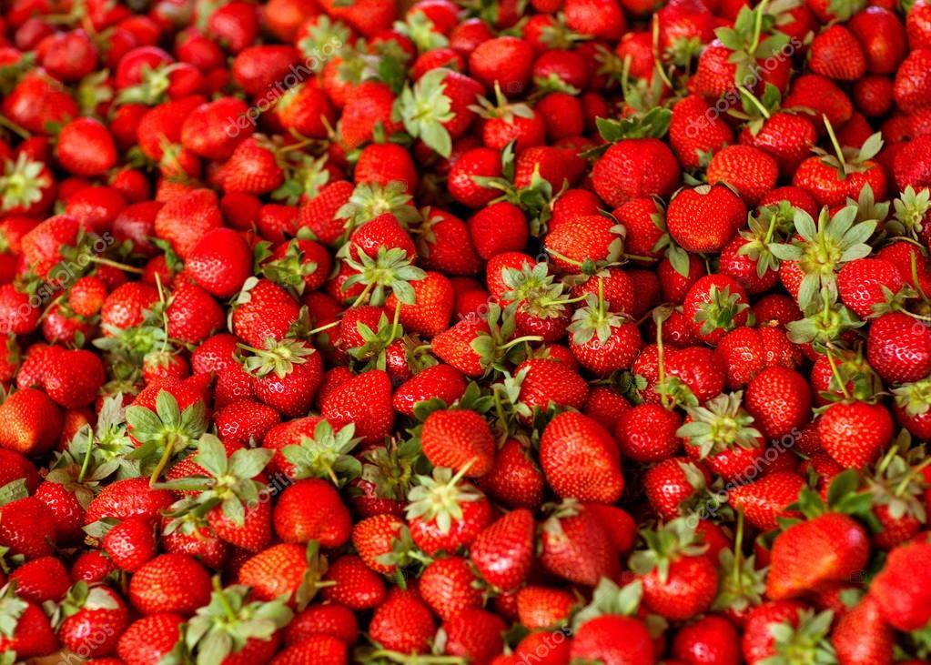 madura Fresa perfecta fresca - fondo marco alimentos — Foto de stock ...