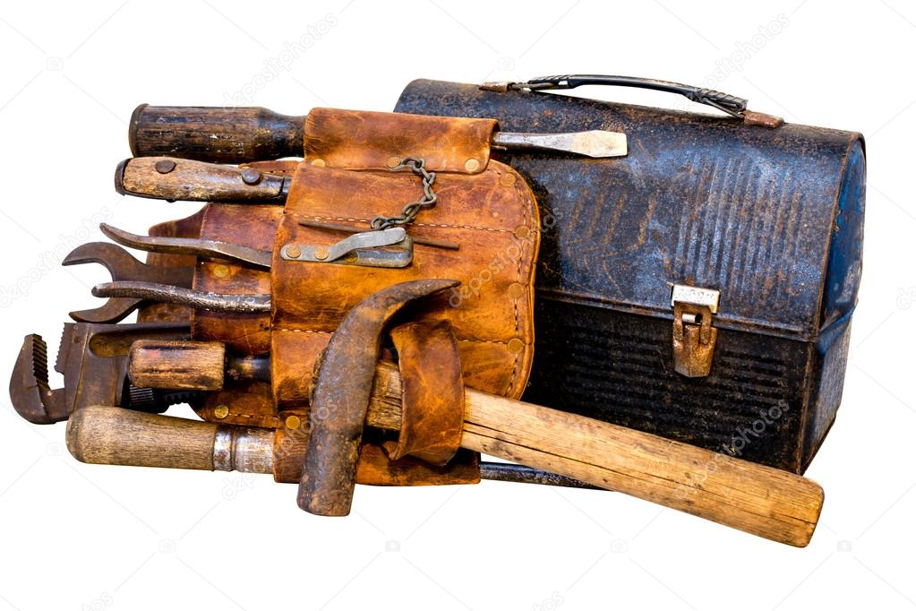 Vintage Tools, Tool Belt, and Lunch Box
