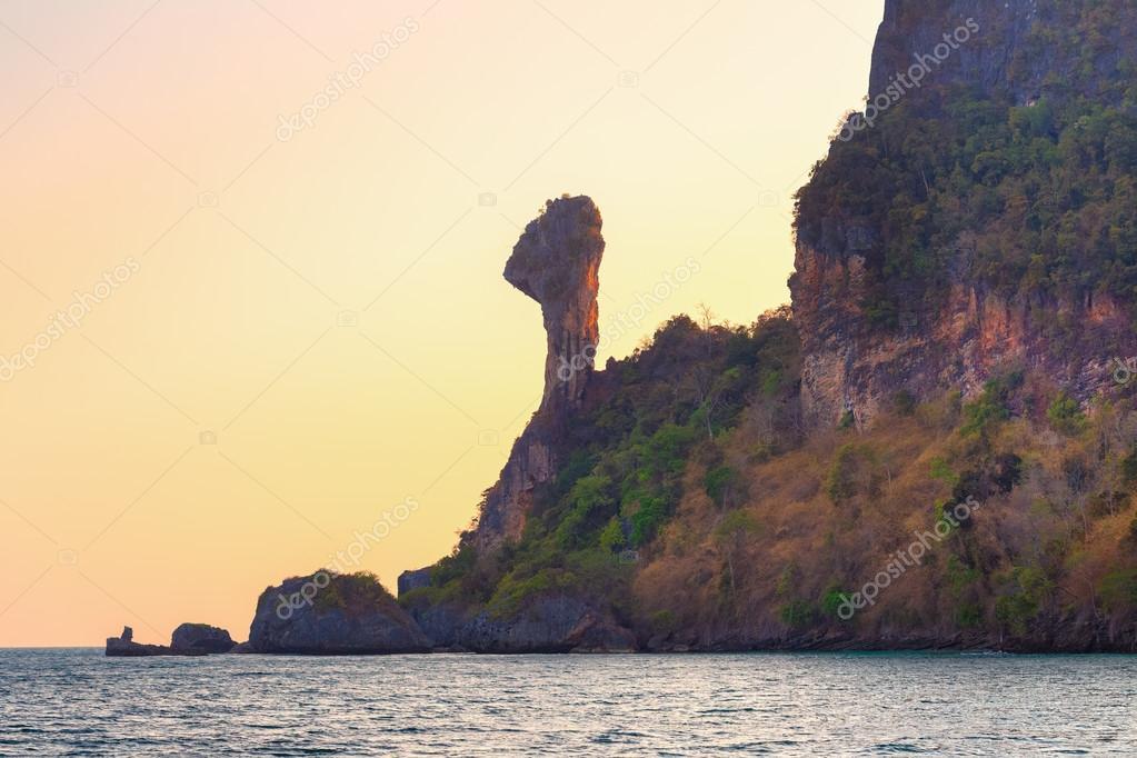 Island in the tropical sea