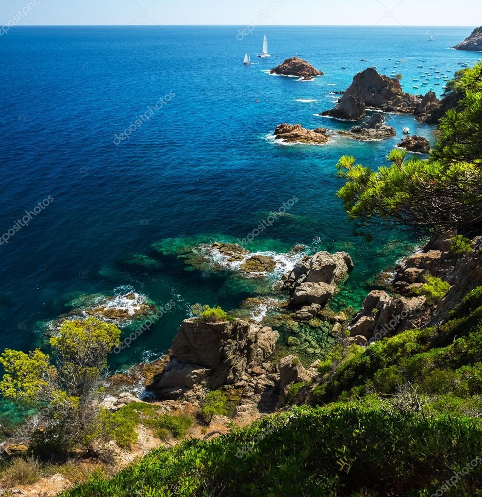 sea with rocks, Tossa de Mar