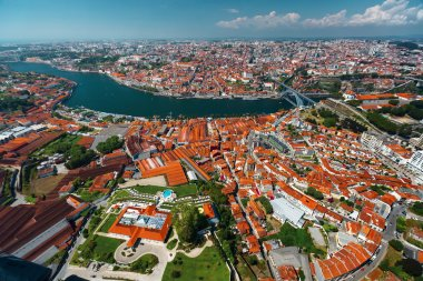 Porto city aerial view