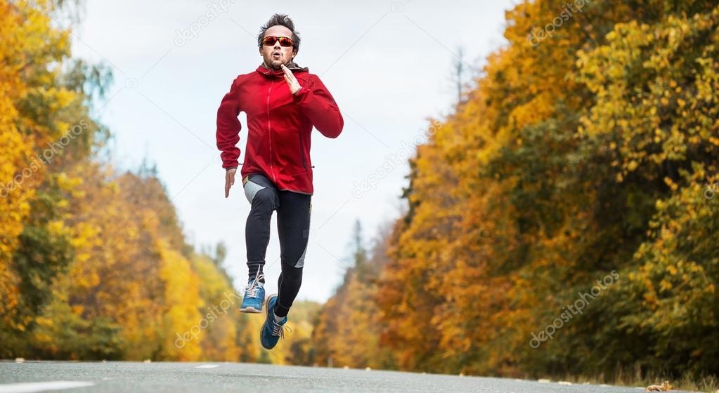 Runner on the road