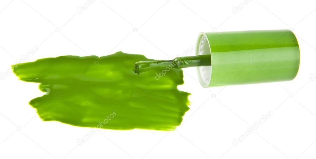 Muestra verde esmalte de uñas — Foto de stock © valzan #115731392