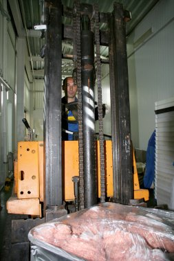 Odessa, Ukraine - July 7, 2007: The factory for the production o