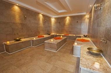 Interior of Turkish baths in health center