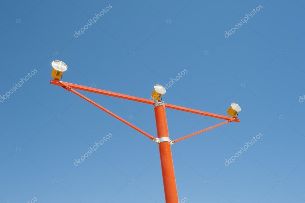 Approach Lights At An Airport Runway U2014 Stock Photo