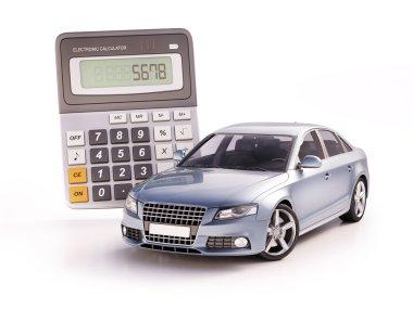 Car and calculator concept