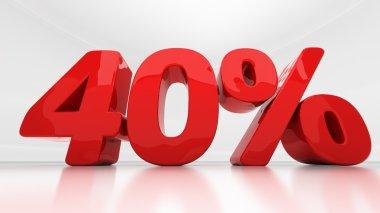 3D forty percent