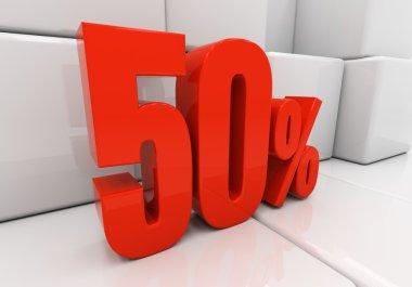 3D 50 percent