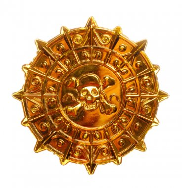 Gold pirate medallion