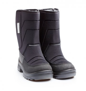 Kids snow boots isolated