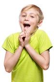 Fotografie Junge mit überrascht Ausdruck