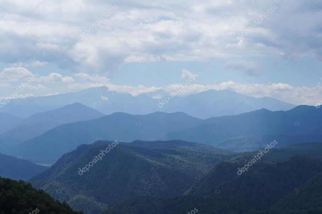 The majestic mountain scenery of the Caucasus Nature Reserve