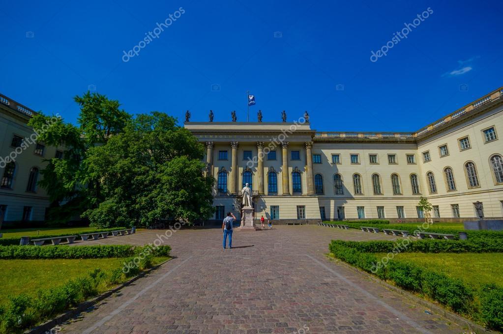 berlin germany june 06 2015 humboldt university in berlin nice