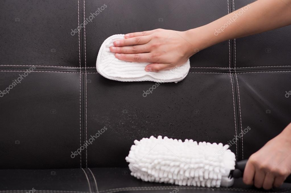 pennello di tessuto bianco da macchina di pulizia di vapore ... - Pulire Divani Con Vapore