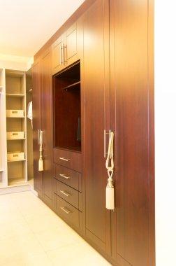 large wooden closet
