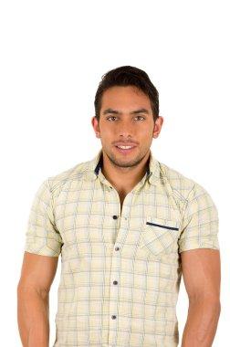 young handsome hispanic man smiling