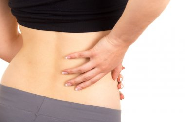young beautiful woman with lower back pain