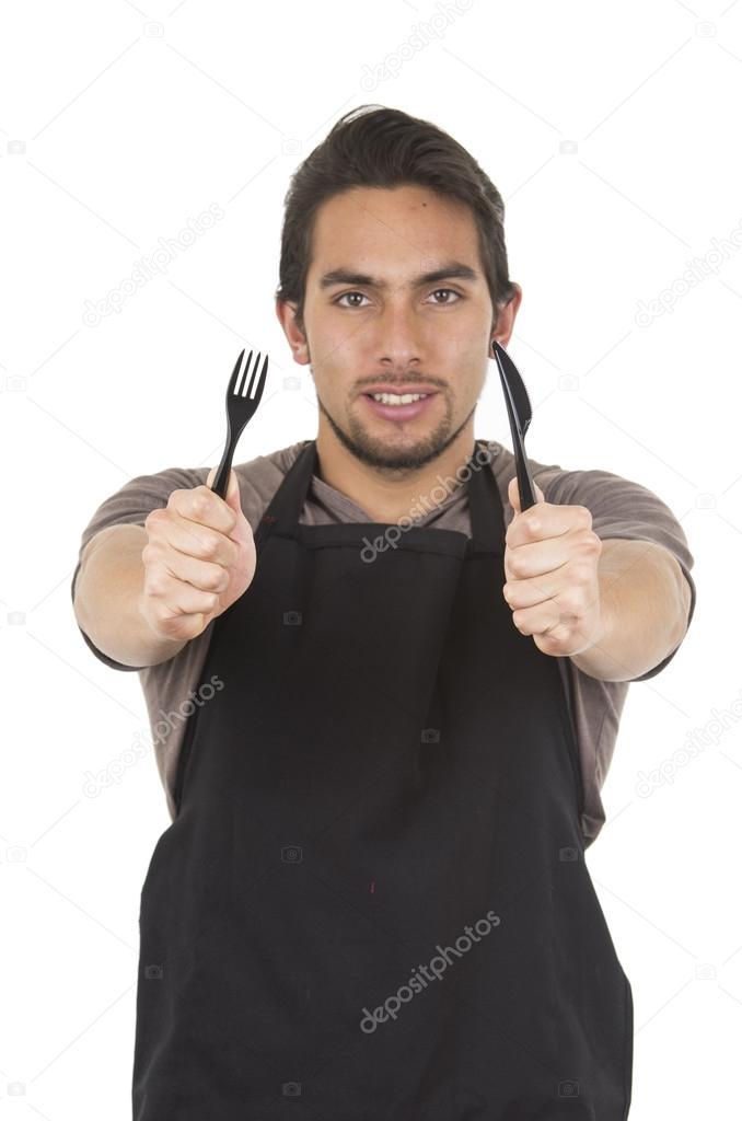 Wielki czarny kucharz