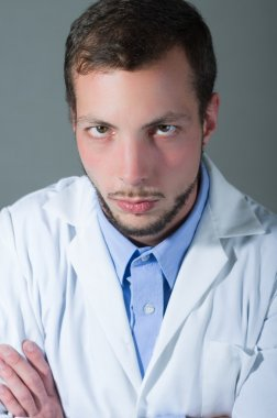 Closeup portrait of handsome young doctor